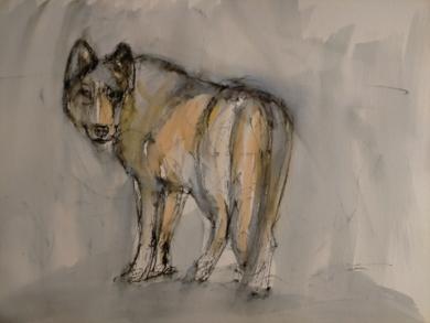 Lobo 3|DibujodeOliverPlehn-Artist| Compra arte en Flecha.es