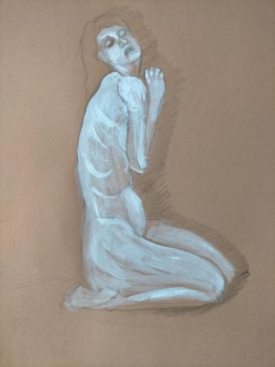 Oración|DibujodeOliverPlehn-Artist| Compra arte en Flecha.es