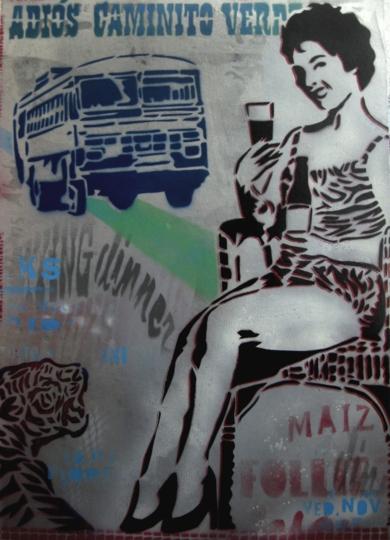 Adiós Caminito Verde|PinturadeCarlos Madriz| Compra arte en Flecha.es