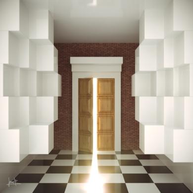 Detrás de la puerta|DigitaldeJavier Bueno| Compra arte en Flecha.es