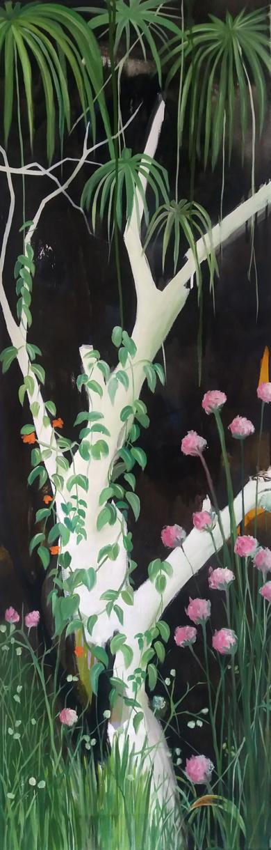 Mujer soñando con escapar #02 PinturadeAya Eliav  Compra arte en Flecha.es