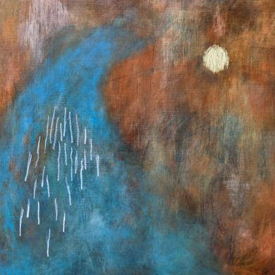 Al Cielo|PinturadeRina Ota| Compra arte en Flecha.es