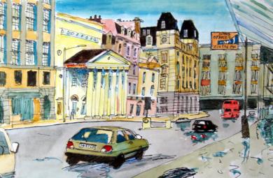 Golf, Haymarket, Londres|PinturadeEugenio Vega| Compra arte en Flecha.es