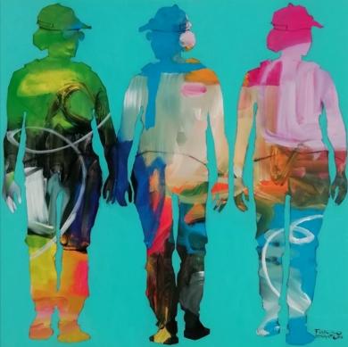 Friends 3|PinturadeFrancisco Santos| Compra arte en Flecha.es
