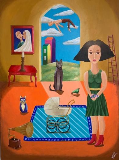 Caverna-19|PinturadeClaudine Brantes| Compra arte en Flecha.es