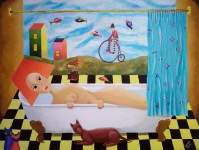 Room#14|PinturadeClaudine Brantes| Compra arte en Flecha.es