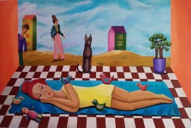 Afternoon Blue|PinturadeClaudine Brantes| Compra arte en Flecha.es
