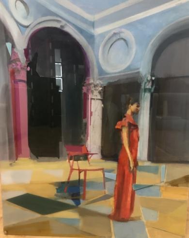 Mujer en arquitectura|CollagedeAna Alcaraz| Compra arte en Flecha.es