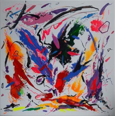 HOUGAKU  MUSIC  JAPAN - II|PinturadeValeriano Cortázar| Compra arte en Flecha.es