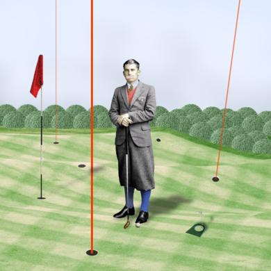 """ Archer fuckingslice II en Chingford golf course ""|CollagedeGabriel Aranguren| Compra arte en Flecha.es"