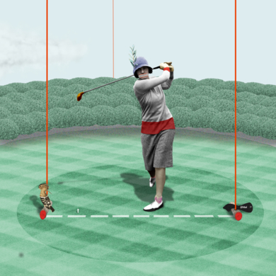 """ Penny Alwaysstraigth en Chingford golf course""|CollagedeGabriel Aranguren| Compra arte en Flecha.es"