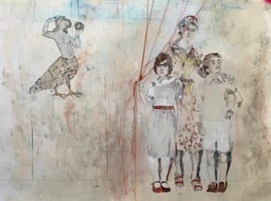 Descorriendo el velo.|CollagedeGloria Loizaga| Compra arte en Flecha.es