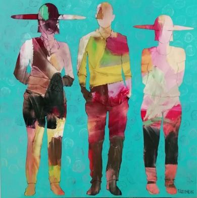 The meeting 2|PinturadeFrancisco Santos| Compra arte en Flecha.es