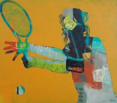 Match point 1|PinturadeFrancisco Santos| Compra arte en Flecha.es