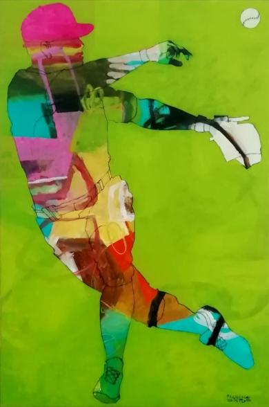 Baseball 1|PinturadeFrancisco Santos| Compra arte en Flecha.es