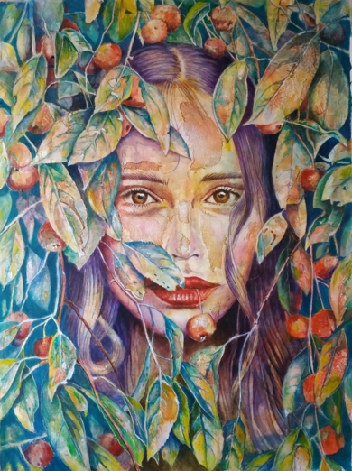 Woman VI PinturadeCarlos Anabeil  Compra arte en Flecha.es