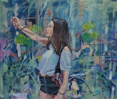 El punto de Mira|PinturadeAmaya Fernández Fariza| Compra arte en Flecha.es