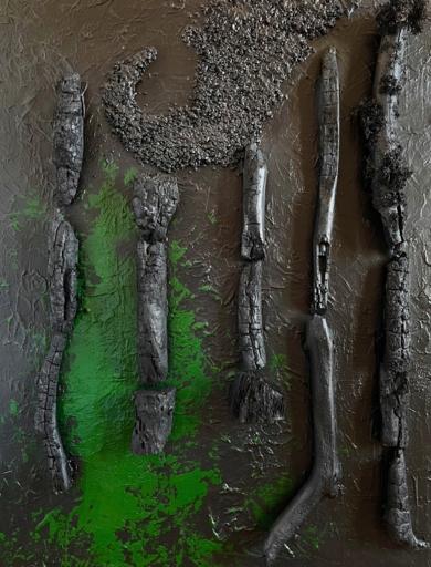 BAÑO DE BOSQUE|Escultura de pareddeALFREDO MOLERO DOVAL| Compra arte en Flecha.es