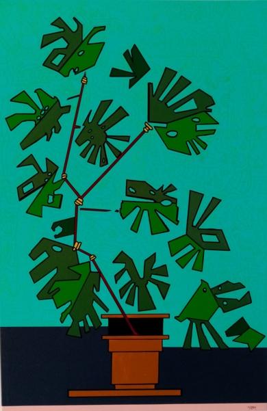 Monstera deliciosa|PinturadePhilip Verhoeven| Compra arte en Flecha.es