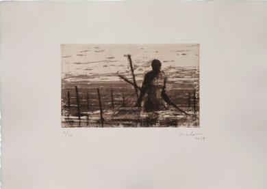 Pescadores de Bagamoyo  N 9,|Obra gráficadeCalo Carratalá| Compra arte en Flecha.es