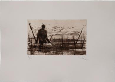 Pescadores en Bagamoyo  N 11|Obra gráficadeCalo Carratalá| Compra arte en Flecha.es