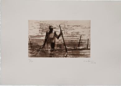 Pescadores de Bagamoyo N 12|Obra gráficadeCalo Carratalá| Compra arte en Flecha.es