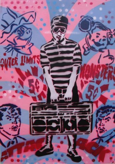 Boombox|PinturadeCarlos Madriz| Compra arte en Flecha.es