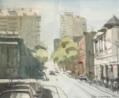 Ciudad|PinturadeIñigo Lizarraga| Compra arte en Flecha.es