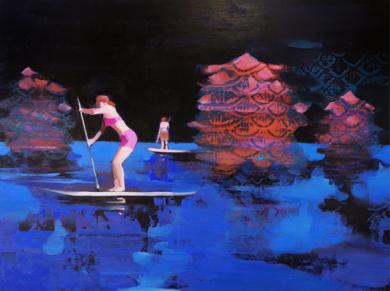 Barqueras de Oriente|PinturadeCarmen Montero| Compra arte en Flecha.es
