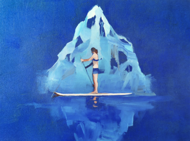 La montaña de hielo|PinturadeCarmen Montero| Compra arte en Flecha.es