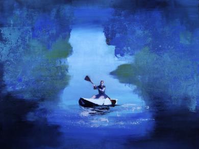 Kayak|PinturadeCarmen Montero| Compra arte en Flecha.es