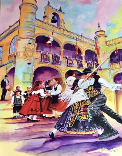 Charrada en Cuidad Rodrigo Painting|PinturadeMaite Rodriguez| Compra arte en Flecha.es