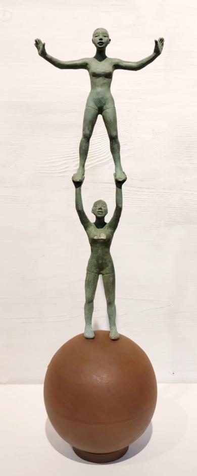 Juntos|EsculturadeCharlotte Adde| Compra arte en Flecha.es