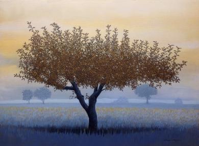 El manzano|PinturadeCharlotte Adde| Compra arte en Flecha.es