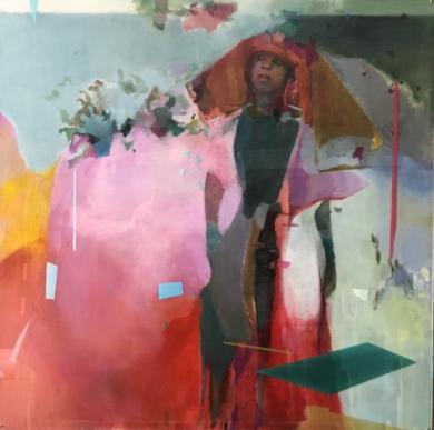Figura con sombrero|CollagedeAna Alcaraz| Compra arte en Flecha.es