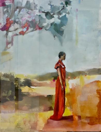 Figura con árbol|CollagedeAna Alcaraz| Compra arte en Flecha.es