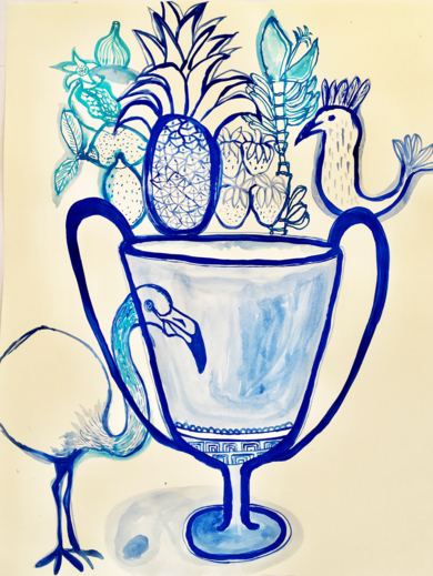 Fruit salad delight|DibujodeLisa| Compra arte en Flecha.es