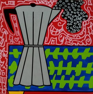 Café|PinturadePhilip Verhoeven| Compra arte en Flecha.es
