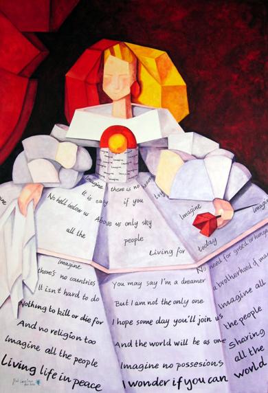 Menina Imagine|PinturadeMaite Rodriguez| Compra arte en Flecha.es
