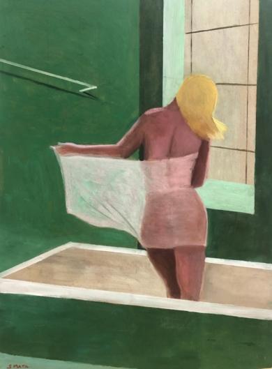 Bath time variations in green|PinturadeSusana Mata| Compra arte en Flecha.es