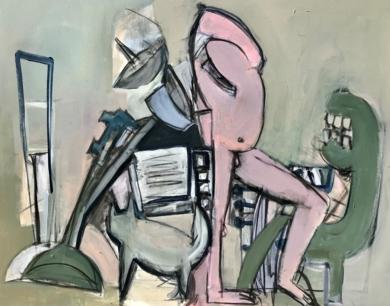 Man of the Moon|PinturadeOscar Leonor| Compra arte en Flecha.es