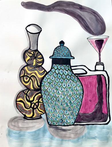Vases from Mr. Gulbenkian's museum|DibujodeLisa| Compra arte en Flecha.es