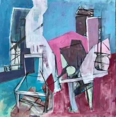 Habitación con ventana abierta|PinturadeOscar Leonor| Compra arte en Flecha.es