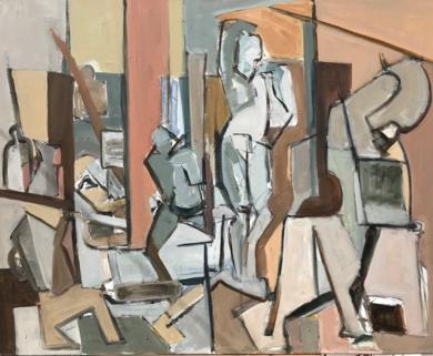 Estudio|PinturadeOscar Leonor| Compra arte en Flecha.es
