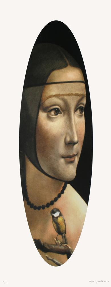 Dama de Leonardo con carbonero|Obra gráficadeEnrique González| Compra arte en Flecha.es