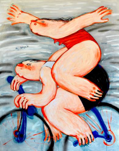 Bicicleta|PinturadeYana Medow| Compra arte en Flecha.es