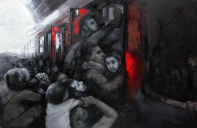 EL TREN DE LA ESPERANZA PinturadeEva Villalba  Compra arte en Flecha.es