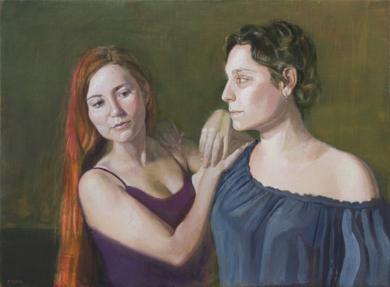 Women on the spotlight (Je chante pour moi m^eme)|PinturadeIgnacio Mateos| Compra arte en Flecha.es