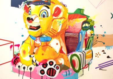 WILD LION|CollagedeAlejandra de la Torre| Compra arte en Flecha.es
