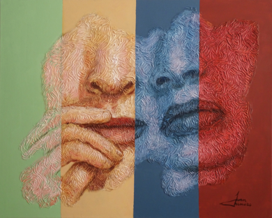 PAREJA GITANA PinturadeJuan Chamizo  Compra arte en Flecha.es
